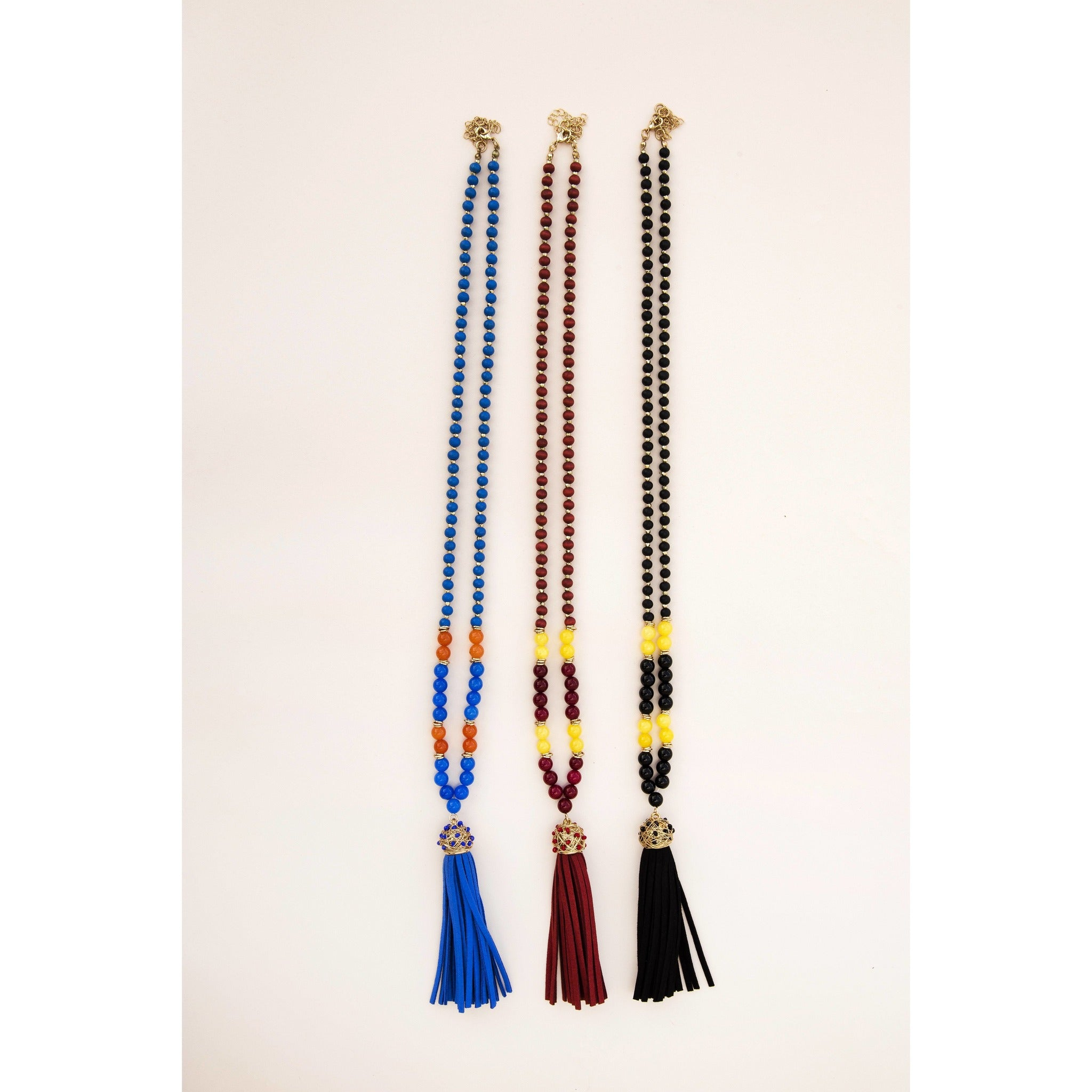 Fanfare Tassel Game Day Necklace