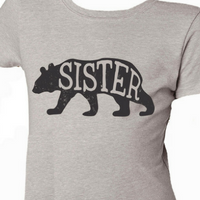 Girls Sister Bear T-Shirt by Jane Marie