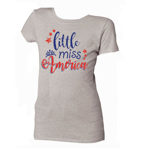 Little Miss America Girls Tee by Jane Marie