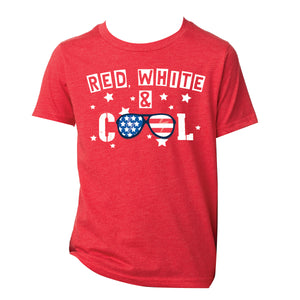 Red, White & Cool Youth Tee by Jane Marie