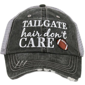 Tailgate Hair Don't Care Trucker Hat by Katydid