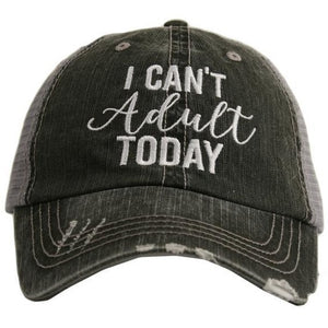 Can't Adult hat by Katydid