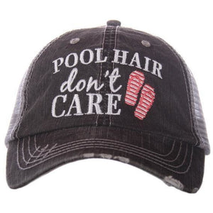 Pool Hair Don't Care hat by Katydid