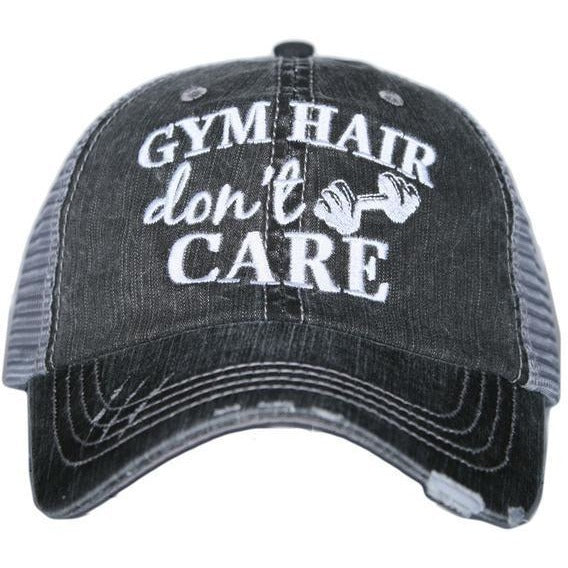 Gym Hair Don't Care hat by Katydid