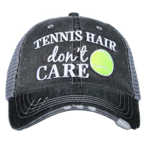 Tennis Hair Don't Care Trucker Hat by Katydid