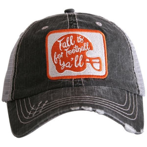 Fall is for Football Y'all Trucker Hat by Katydid