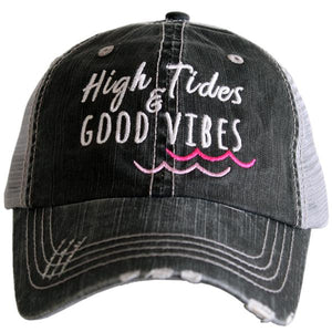 High Tides & Good Vibes Trucker Hat by Katydid