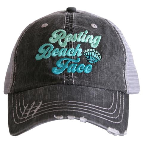 Resting Beach Face Trucker Hat by Katydid