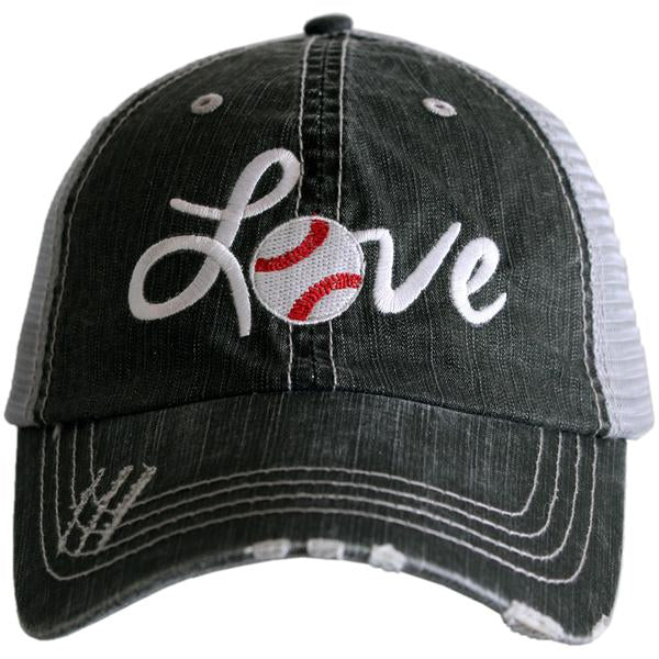 Love Baseball Trucker Hat by Katydid