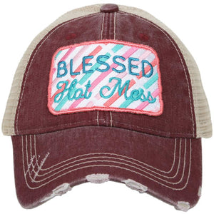 Colored Blessed Hot Mess Patch By Katydid