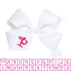 Monogrammed Bow