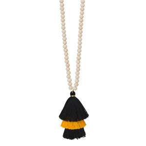 Fanfare Game Day Stacked Tassel Necklace