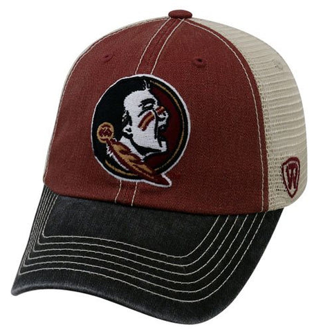 Tri Color Trucker Hat-FSU