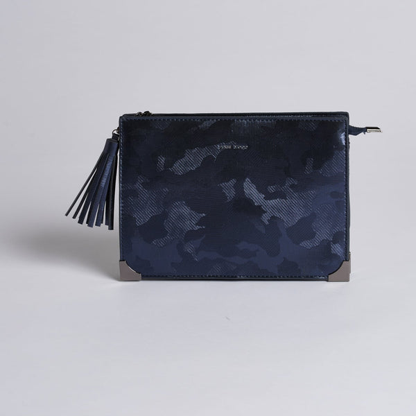 Renee Metallic Camo Clutch