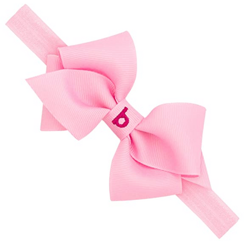 Wee Ones Removable Grow with Me Monogrammed Bow Headband