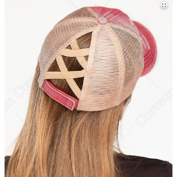 Personalized Elastic Crossed Band Hat