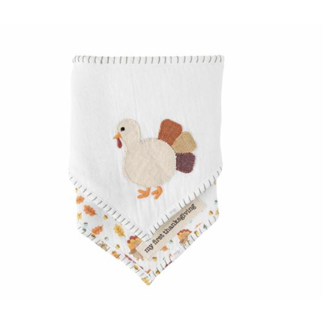 Thanksgiving Bandana Bib Set