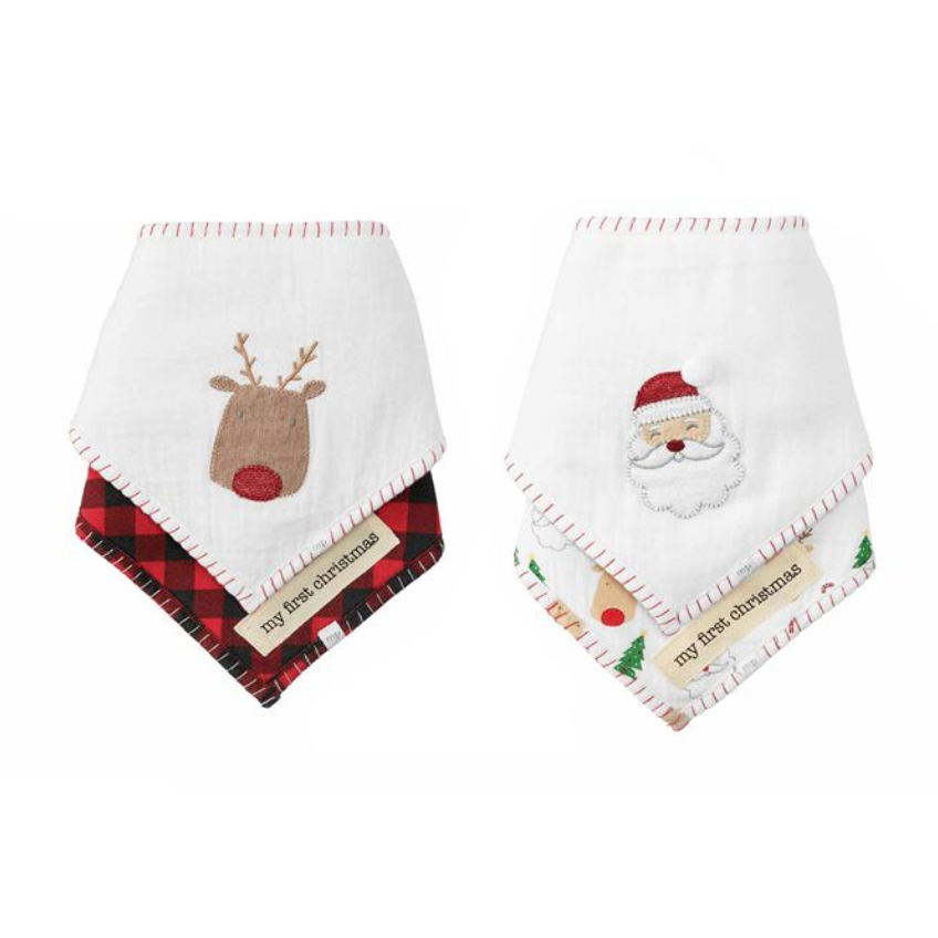 Christmas Bandana Bib Set