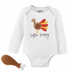 Turkey Knit Rattle & Crawler Set