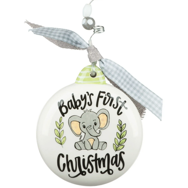 Baby's First Christmas Baby Elephant