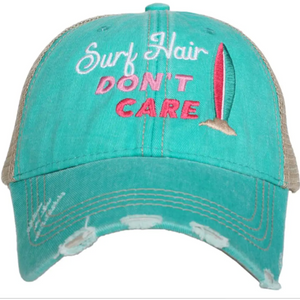 Surf Hair Don't Care Trucker Hat by Katydid