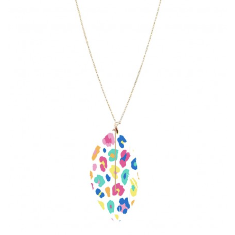 Fun Leopard Heather Necklace
