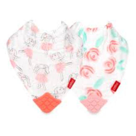 2 Pack Muslin Teething Bib with Personalization