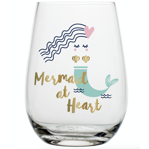 Mermaid at Heart Wine Glass