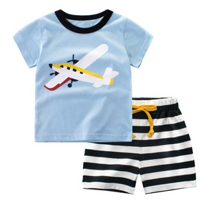 Boy Airplane Short Set