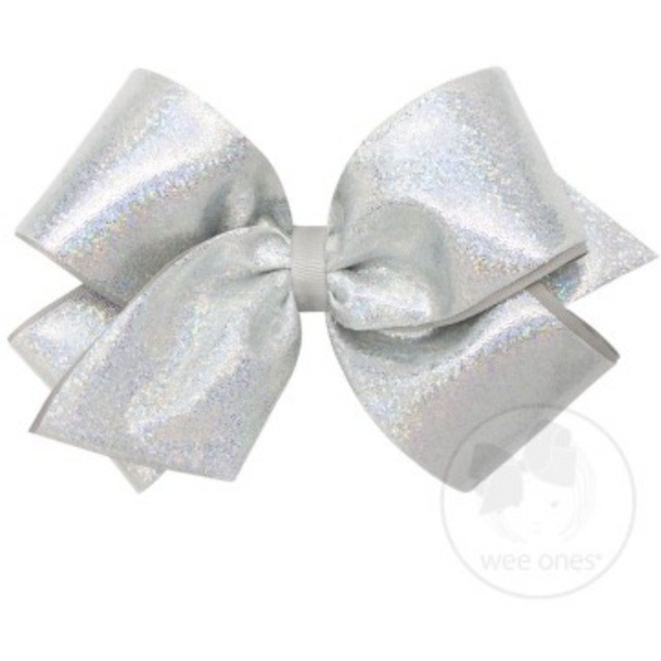 Wee Ones King Glitter Overlay Bow