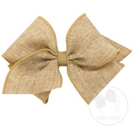 Mini King Burlap Bow
