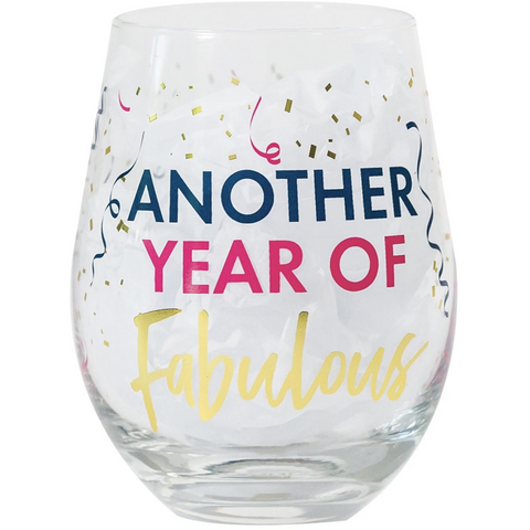 Stemless Wine Another Year Glass