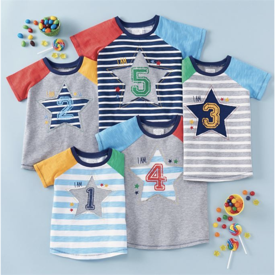 Boy Star Birthday Shirts