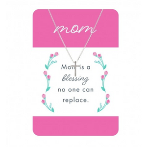 Silver Cross Mom Necklace