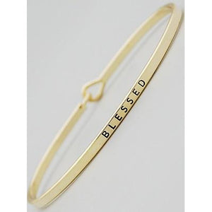 Blessed Thin Bangle