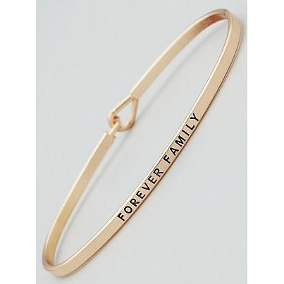 Forever Family Thin Bangle