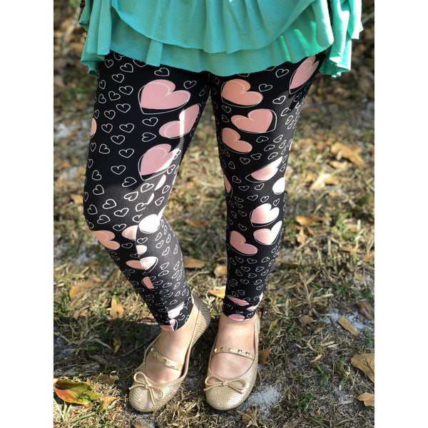 Kids Heart Print Legging
