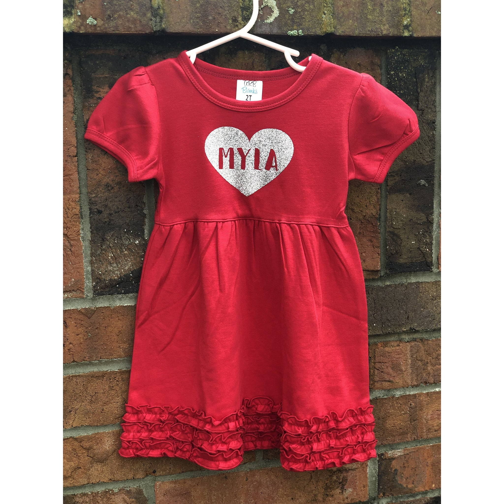 Girls Glitter Heart Dress