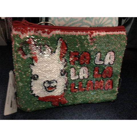 Llama Sequin Pouch