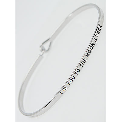 To The Moon & Back Thin Bangle
