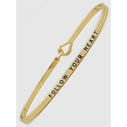 Follow Your Heart Thin Bangle