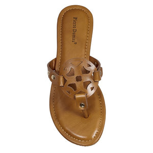 Tan Circle Design Sandal