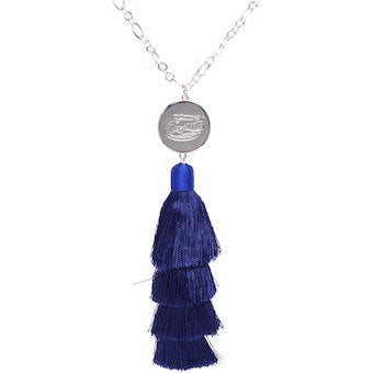 Tara Tassel Game Day Logo Necklace