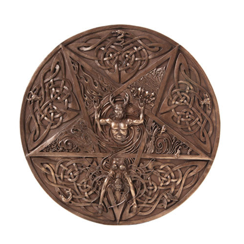 Horned God and Goddess Elemental Plaque (As Above So Below)