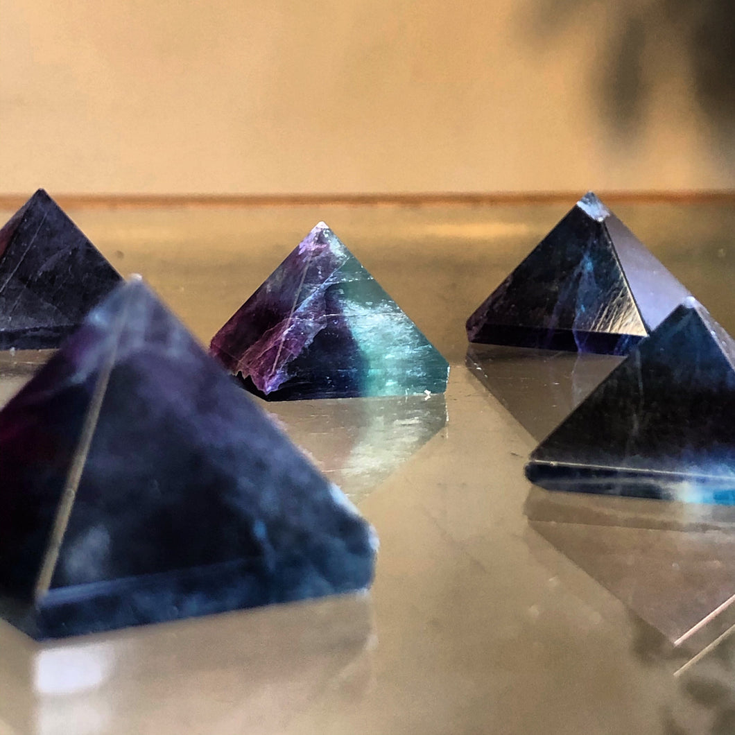 Fluorite Pyramids (Protection, Peace, Psychic Development, Meditation)