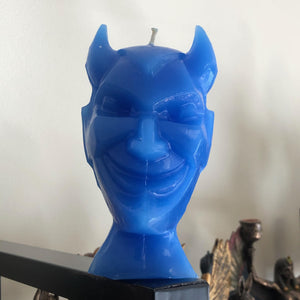 Blue Devil Candle (Soothes Tempers, Calms Overzealous Sexual Appetites, Stops Infidelity, Peace Mind)