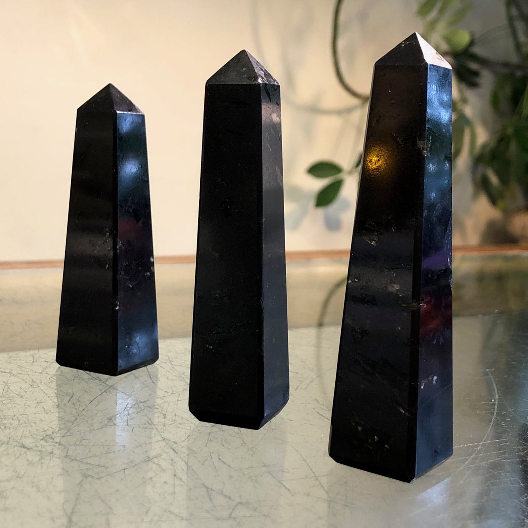 Black Tourmaline Towers (Grounding, Reverses Negativity, Endurance)