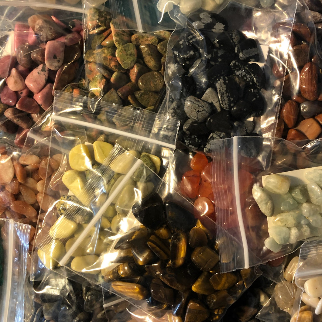 Crystal Gemstones Packages (Grid Work, Bulk) Comes in 77 Varieties.