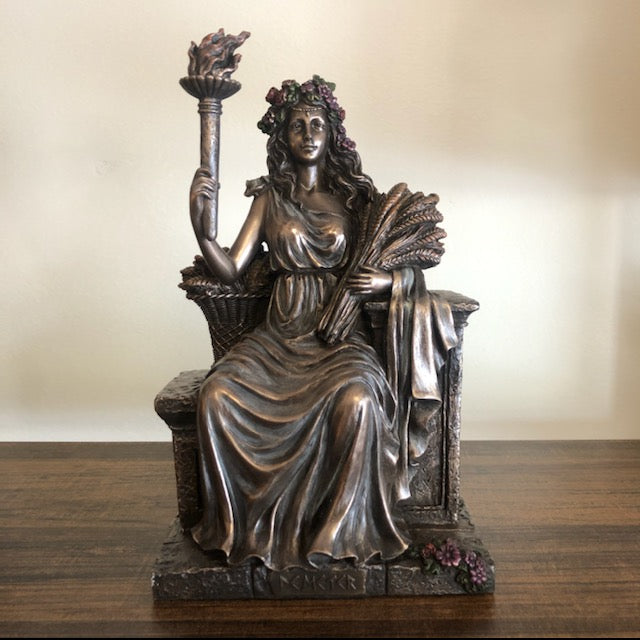 Demeter Goddess Statue (Harvest, Agriculture, Fertility, Four Seasons)