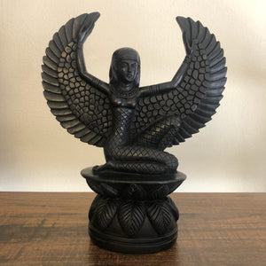 Black Isis Winged Statue (Mother, Magic, Manifestation, Love, Spirituality)